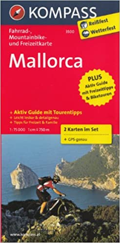 Mallorca 1:75.000 mapa ciclismo carretera y montaña juego de 2 ...