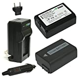 : Wasabi Power Battery (2-Pack) and Charger for Sony NP-FW50 (Compatible with Alpha a7, a7 II, a7R, a7R II, a7S, a7S II, a5000, a5100, a6000, a6300, a6500, NEX-5T, Cyber-shot DSC-RX10 III and more)