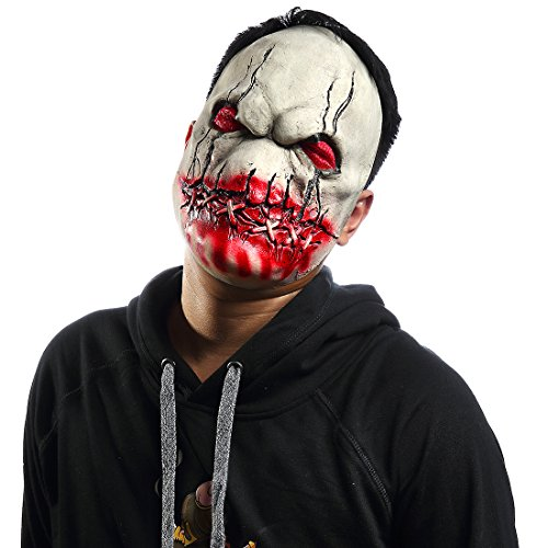 Mo Fang Gong She Halloween Death Zombie Scary Devil Cosplay Horror Bloody Skeleton Latex Masks ()