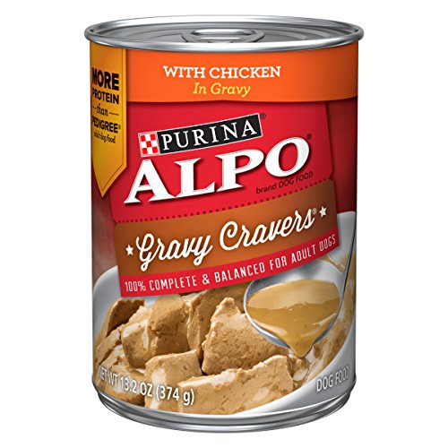 Purina ALPO Gravy Cravers Adult Wet Dog Food – 12 13.2 oz. Cans