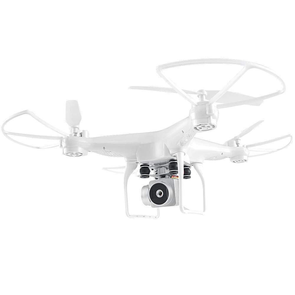 Chartsea Quadcopter Drone with Camera Live Video, JJRC H68 Wide Angle Lens 720P HD Camera WiFi FPV RC Drone (White)