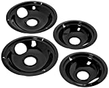 Stanco 4 Pack Universal Electric Range Black Porcelain Reflector Bowl