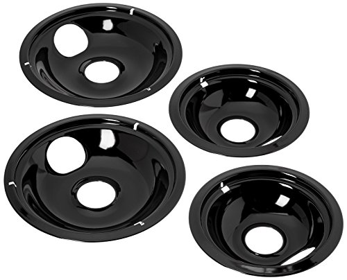 Black Stove - Stanco 5557 Drip Bowl Universal, Porcelain, pack of 4