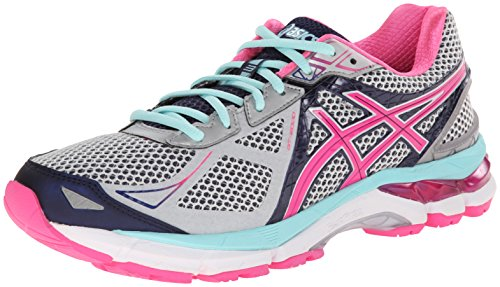 Cheap ASICS Women's GT-2000 3 Lightning/Hot Pink/Navy 5 EE – Extra Wide