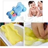 LILACORP Baby Infant Soft Bath Sponge Seat Cute Anti-Slip Foam pad Mat Body Support Safety kids Cushion Sponge bathroom products