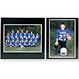 Team/Player 10x8/5x7 MEMORY MATES Black cardstock double photo frame sold in 10's - 8x10