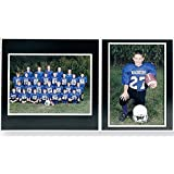 Team/Player 10x8/5x7 MEMORY MATES Black cardstock