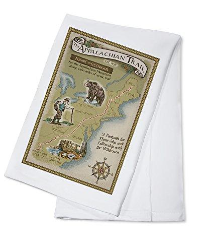 Appalachian Trail Map (100% Cotton Kitchen Towel) by Lantern Press