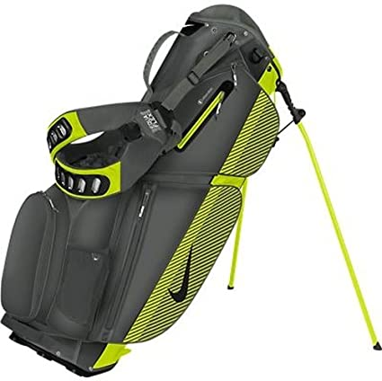 Leche actualizar Literatura  Amazon.com : Nike Air Sport Stand Golf Bag, Grey/Black/Green ...