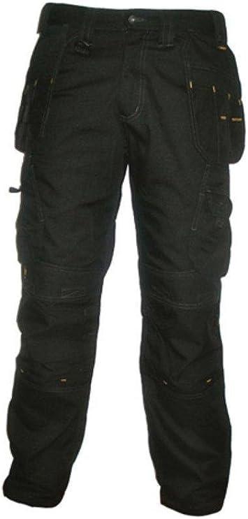 DeWalt Mens Polycotton Pro Tradesman Work Trouser 38W x 29L Black