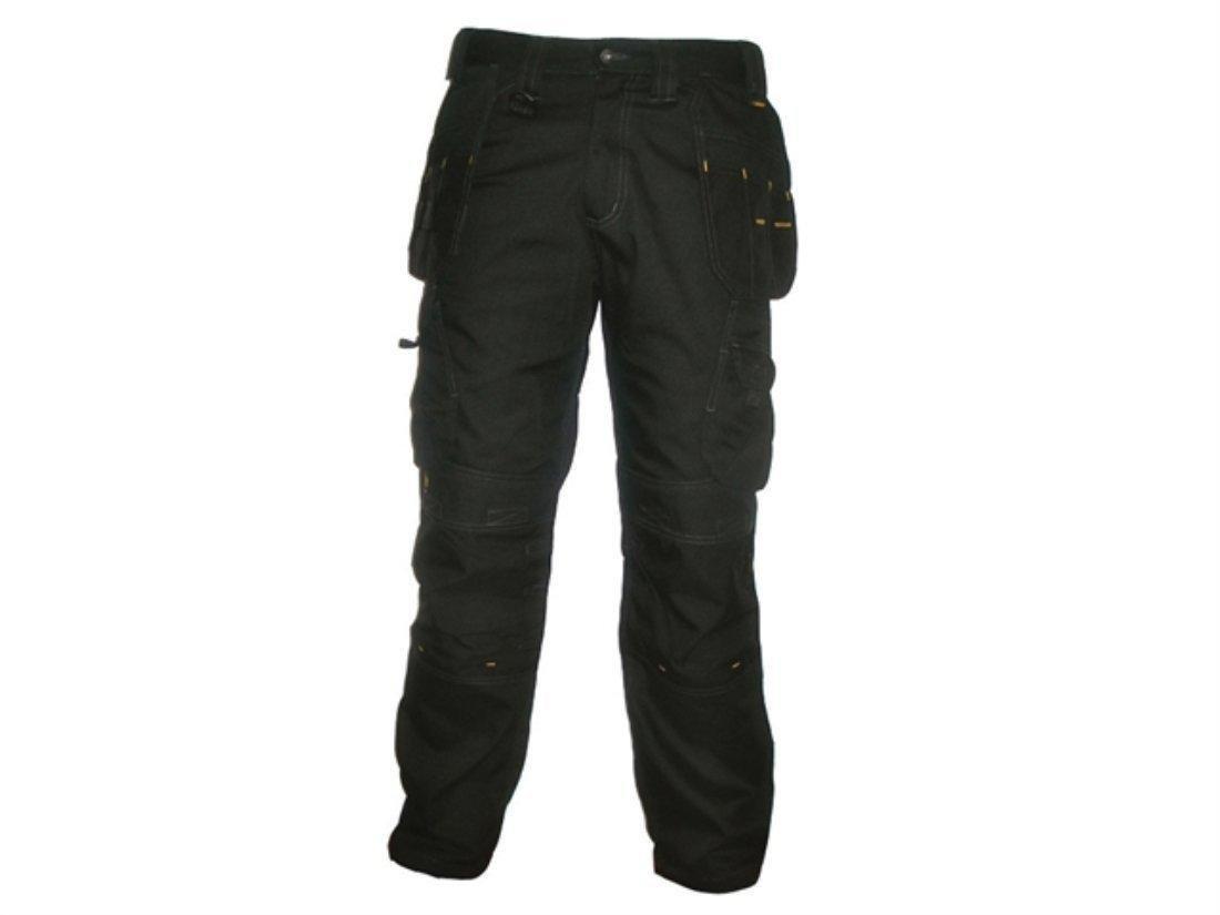 noir 38W x 33L DeWalt Pro Pantalon de travail robuste en toile pour homme 1