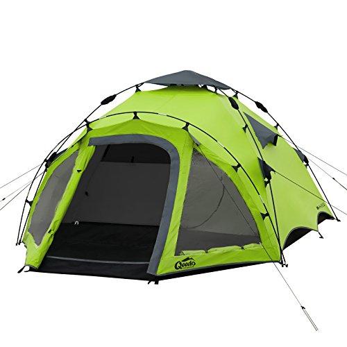 Qeedo Quick Oak 3 Seconds Tent 3 Man Camping Tent (Quick Up System) - green