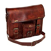 "11"" Men's Genuine Leather Small Briefcase Messenger Satchel Ipad Tab Tablet Bag"