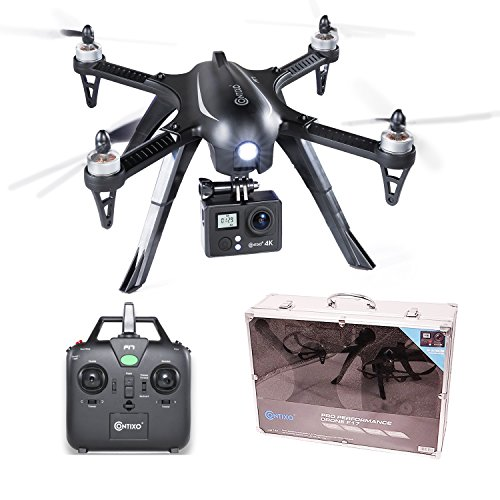 Buy cheap contixo f17 plus quadcopter drone with ultra camera 16mp brushless motors mins flight time aluminum