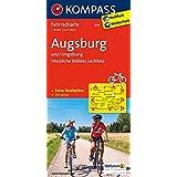 Augsburg und Umgebung - Westliche Wälder - Lechfeld: Fahrradkarte. GPS-genau. 1:70000 (KOMPASS-Fahrradkarten Deutschland, Band 3116)