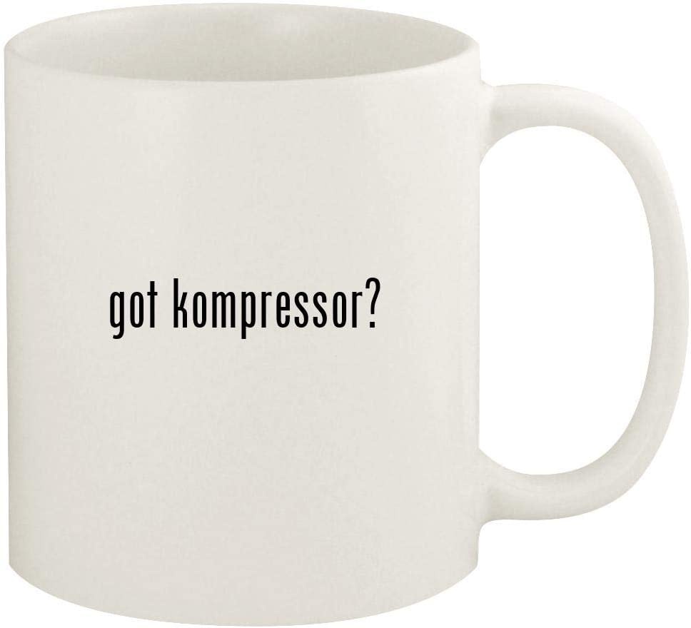 got kompressor? - 11oz Ceramic White Coffee Mug Cup, White