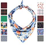 Lucy & Co.. Dog Bandana - Small Large Designer Puppy Clothes - Bandannas for Boy and Girl Dogs - Accessories Fit Small Medium Large Dogs (Molly, Large)