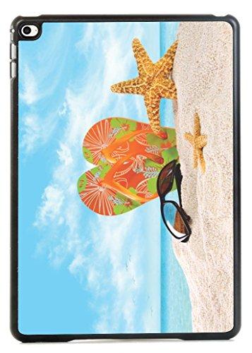 Rikki Knight Orange Green Flip-Flops In The Sand With Sta...