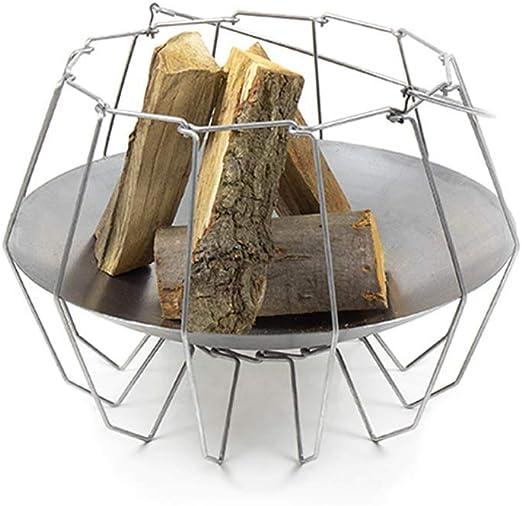 Amagard Brasero de Acero Mood&Fire Low, Cuenco para Fuego Moderno para terraza y jardín, 52x52cm, 37cm Alto: Amazon.es: Jardín