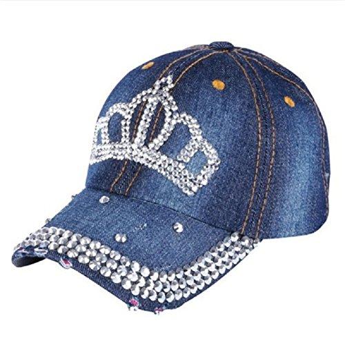 - Oberora Baseball Caps Women, Novelty Rhinestone Crown Style Classic Baseball Hats (Port Gore)