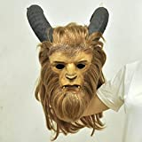 Halloween Beast Mask Cosplay Costume Prop for Casual Tangerine Fangs Mask