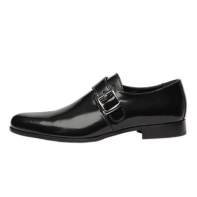 Amazon.com | ZXD Men Formal Dress Shoes Slip on Loafers Cap Toe ...