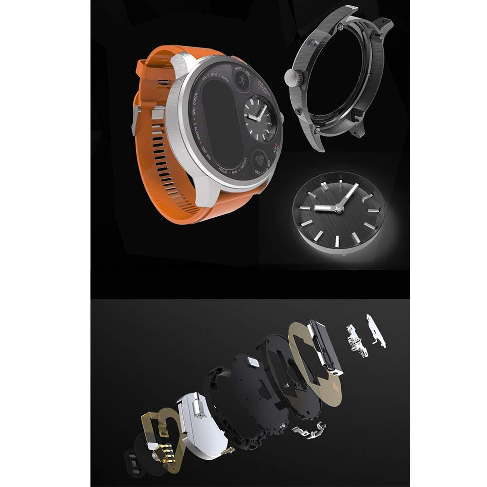 Hemobllo Smart Watch T3 Agua Densidad Tensiómetro de frecuencia cardíaca podómetro Pulsera (Café): Amazon.es: Hogar