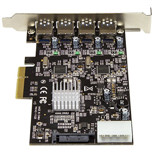 StarTech USB 3.1 PCI-e Card – 4 Port – 4X USB-A with Two 10Gbps Dedicated Channels – Expansion Card – USB 3.1 Card by StarTech (Image #2)