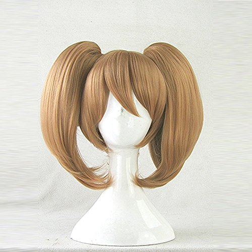 Price comparison product image Sword Art Online Silica Brown Clip on 2 Ponytails Cosplay Wig + Wig Cap
