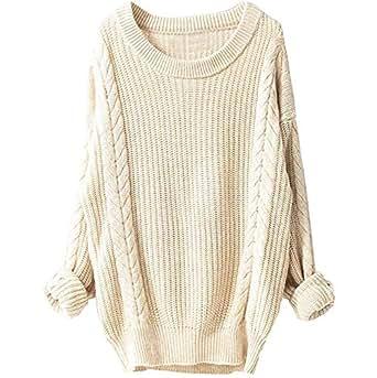 Lovewe Women Knitted Sweater, Women's Winter Large Round