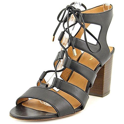 COACH Women's Monica Black Soft Shine Calf Sandal ()