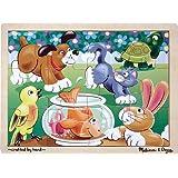Melissa & Doug Wooden Jigsaw Puzzle - Playful Pets