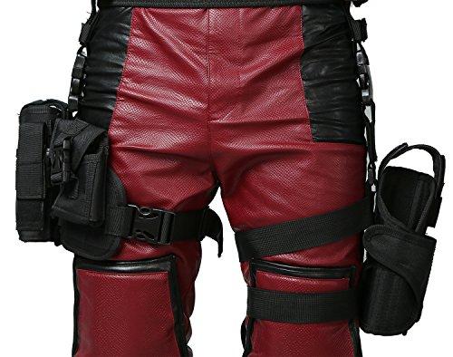 High Quality Deadpool Costumes (DP Wade Belt Tactical Leg Bag Pockets Holster Halloween Cosplay Costume Xcoser)