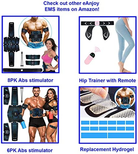 eAnjoy Home Gym Exercise Equipment – Electric Butt Hip Trainer, Buttlock Abs Stimulator, Backside Muscle Toner and Muscle Stimulator for Women, Men and Mom 7