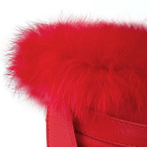 Sconosciuto 1TO9 - Stivali da Neve Donna, Rosso (Red), 35 EU