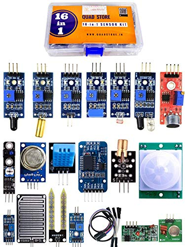 Quad Store(TM) – 16 in 1 Sensor Modules Kit for Arduino Uno R3, Mega 2560, Raspberry Pi with box Price & Reviews