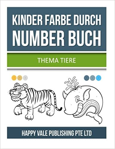 Kinder Farbe durch Number Buch: Thema Tiere: Amazon.de: Happy Vale ...