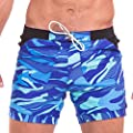 Taddlee Swimwear Men Basic Long Swimming Trunk Surf Camo Shorts Swimsuits Pocket