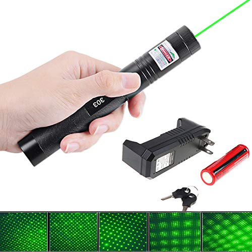 Eleay 2000m Tactical Green Hunting Rifle Scope Sight Laser Pen,Laser Pointer Chaser Toys for Cats/Dog, LED Interactive Baton Funny Halloween Party Laser Toy (Original -
