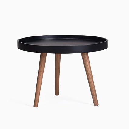 Astounding Desk Xiaolin Nordic Round Coffee Table White Black Small Download Free Architecture Designs Itiscsunscenecom