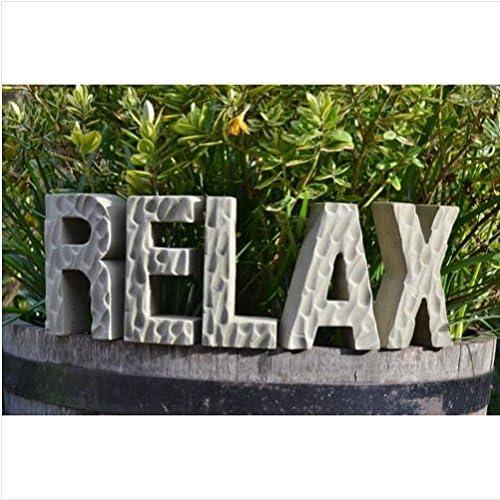 Relax letras alfabeto palabras jardín ornament-lawn Estatua piedra/jardinería jardín Patio cosas artículos Gadgets Patio