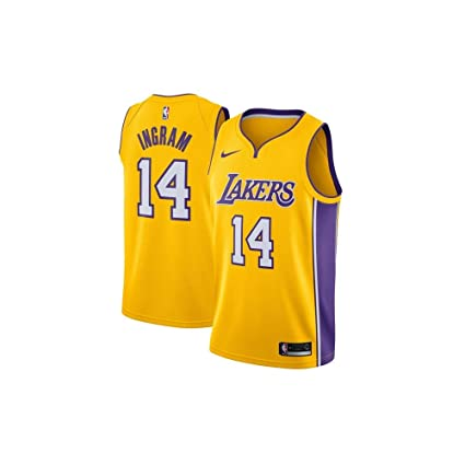8719f4fc2 Image Unavailable. Image not available for. Color  Nike Brandon Ingram Los  Angeles Lakers Association Edition Gold Swingman Jersey ...