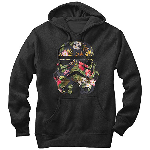 Star Wars Men's Tropical Stormtrooper Black (Trooper Sweatshirt)
