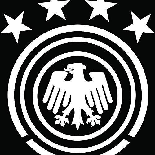 Germany National Football (White) (Set of 2) Premium Waterproof Vinyl Decal Stickers for Laptop Phone Accessory Helmet Car Window Bumper Mug Tuber Cup Door Wall Decoration