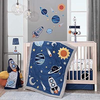 Lambs & Ivy Milky Way Rocket Ship Nursery Throw Pillow Plush : Baby