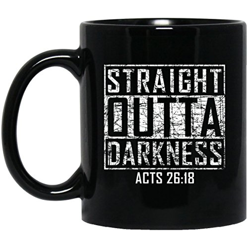Outta Time T-shirt - Straight Outta Darkness | Funny Christian Gift Mug