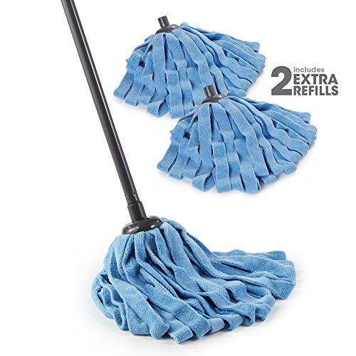 O-Cedar Microfiber Cloth Mop (Microfiber Cloth Mop with 2 Extra Refills, Pack - 1)