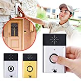 Hanbaili Smart Wireless Doorbell, (gold color) H6 wireless intercom doorbell Home Shop Security Safety Button