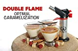 DOUBLE FLAME Culinary Torch for Creme Brulee, Best Butane Torch, Kitchen Food Torch, Professional Grade Chefs Blow Torch, Cooks Searing Torch for Cooking and Baking, Delicious Desserts Every time