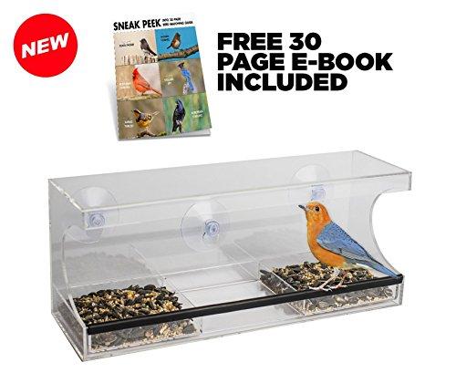 Outdoor Trading Window Bird Feeder with Removable Water (Opus Garden Bird Feeder)